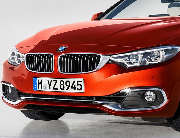 Rød BMW 4-serien convertible fra 2018