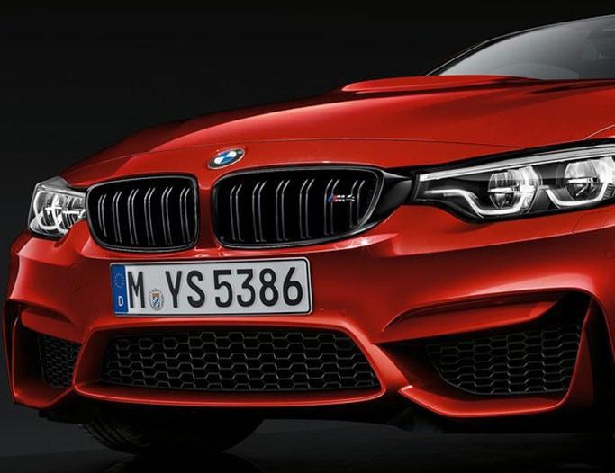 Rød BMW M4 Coupe fra 2018
