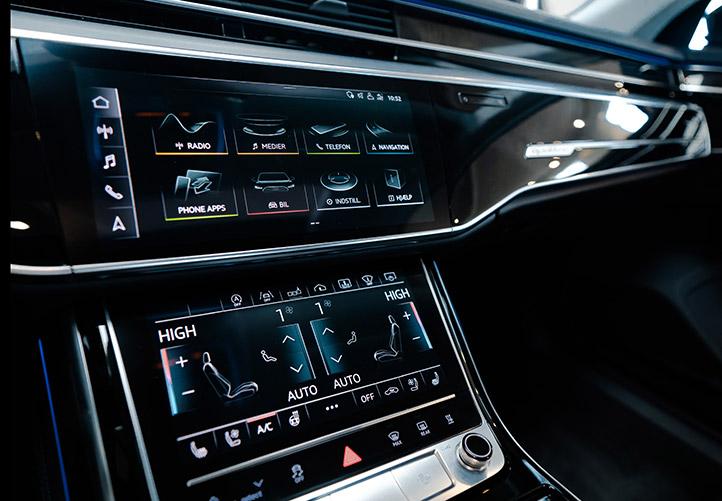 Ekstraudstyr ved billeasing af Audi