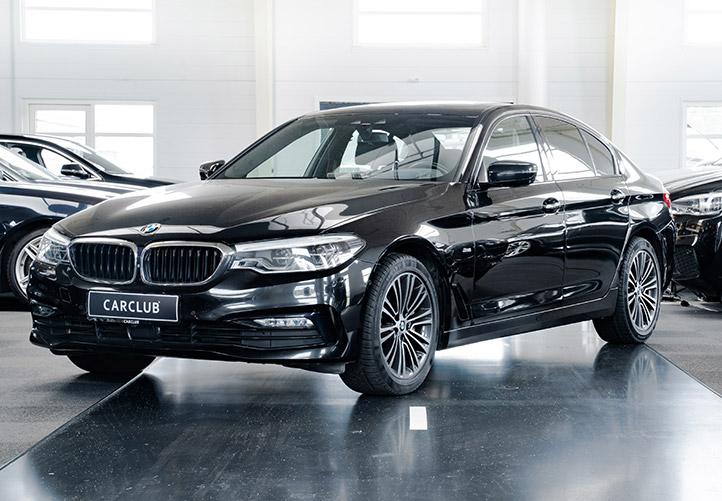BMW 530d sport line aut i sort metal